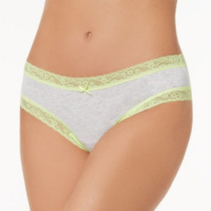 Jenni Cotton Cheeky Lace-Trim Hipster